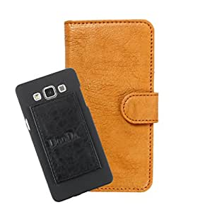 DooDa PU Leather Wallet Flip Case Cover With Card & ID Slots For Spice Stellar 449 3G - Back Cover Not Included Peel And Paste