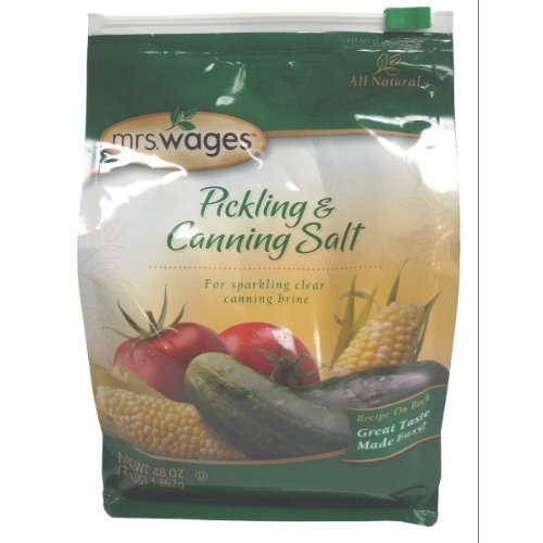 Pickling And Canning Salt By Precision Foods Inc 48oz, (3lbs) 136g by Mrs. Wages