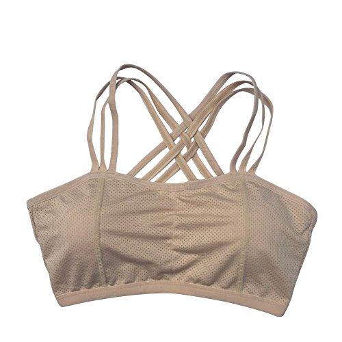 BOBORA Donna Reggiseno Sportivo Yoga Bra Wirefree Traspirante Bra Quick Dry Sportivo Alto Impatto