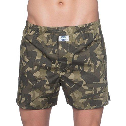 D.E.A.L International Boxershorts Khaki Camouflage Größe XL (Olive Khaki-shorts)