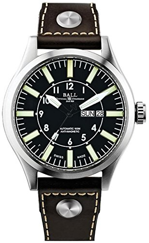 Ball Men's Automatic Watch Engineer Master II Aviator Date Day Analog NM1080 °C 1-L13-HY BK