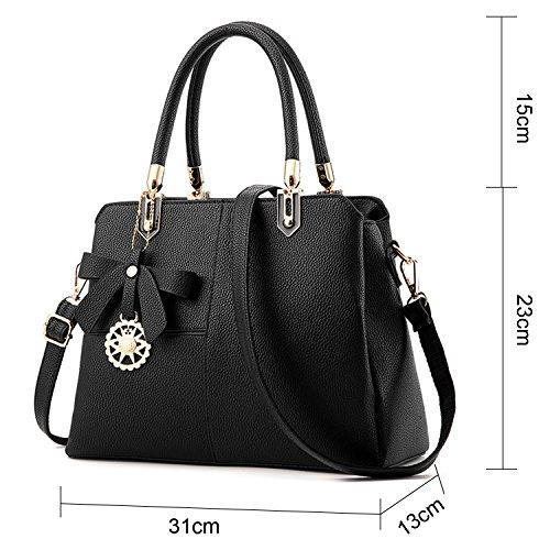 BYD - Pell Donna Borsa Handbag Croce di colore Borse a Mano Nero