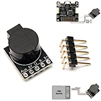 Matek 90dB Drone Beeper Buzzer , Built In MCU , Dual Control ( FC & RX Control ) Lost Model Beeper Loud Buzzer Controllered By Flight Controller & PWM Receiver for FPV Racing RC Drone Quadcopter by LITEBEE from LITEBEE