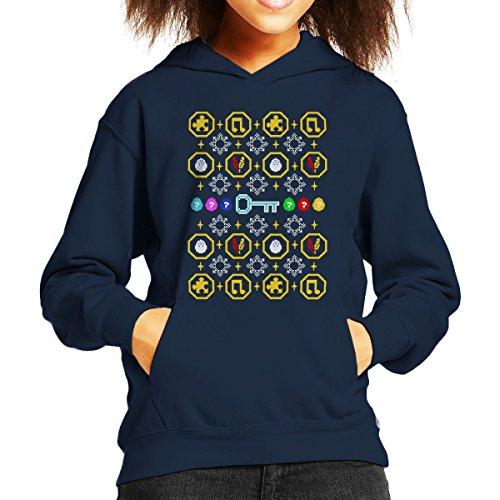 Banjo Kazooie Christmas Knit Pattern Kid's Hooded Sweatshirt gebraucht kaufen  Wird an jeden Ort in Deutschland
