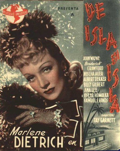 Seven Sinners Plakat Movie Poster (11 x 17 Inches - 28cm x 44cm) (1940) Spanish B