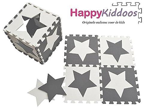 Happykiddoos Puzzlespielmatte 10 Foam Matte. Spielmatte Schaumstoff Verriegelung Puzzle Kinderteppich. Jede Matte hat eine Größe von 30x30cm und ist 1 cm dick (Stern,
