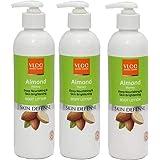 VLCC Almond Honey Deep Nourishing and Skin Brightening Body Lotion Pack of 3 (1050 Ml)