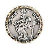 Motivationsgeschenke Christophorus Komm gut Heim selbstklebend Ø 2,6 cm Magnet/Klebepad