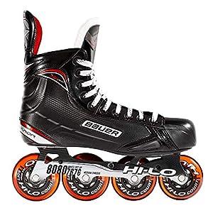 Bauer Inlinehockey Skates XR400 SR 76A Court, Größe wählbar, ABEC 5 Bearing, HI-LO Steel Chassis, Thermoformbar…