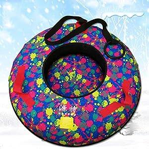 AA100 Schneerohr Kinder erwachsen Abnutzung Schlitten- / geeignet für den Winter im Freien Schnee Ski Spielzeug-Unterhaltung Sport-Runde Dickes volles Paket aufblasbare Schlitten,A,70cm