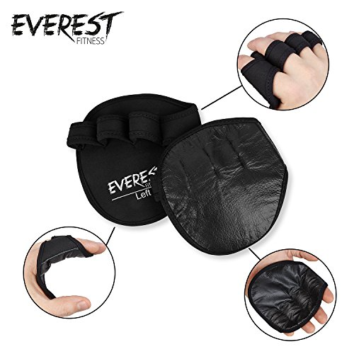 EVEREST-FITNESS-1-Set-of-Weight-Lifting-Gym-GlovesPadded-Gloves-for-weight-training-pull-ups-and-weight-lifting-in-black-Grip-PadsWorkout-GlovesHand-GuardPalm-Protector