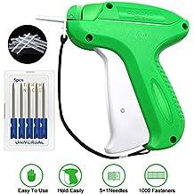 Lnkey pistola etiquetadora, pistola de etiqueta etiquetadora precios + 5 Agujas de Repuesto + 1000 hilos estándar , pistola etiquetar para Ropa Calcetines Sombreros (Verde)