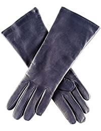 Midnight Navy Blue Leather Gloves with Cashmere Lining
