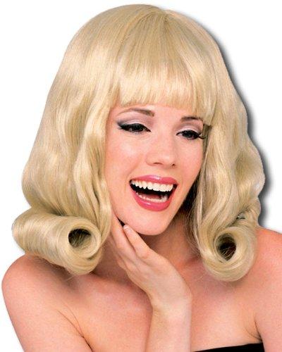 Blonde Flip Perücke (Flip Perücke blond 60s Style)