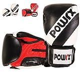 POWRX Boxhandschuhe   Boxing Gloves   verschiedene Farb- und Gewichtsvarianten (Schwarz/14 oz)