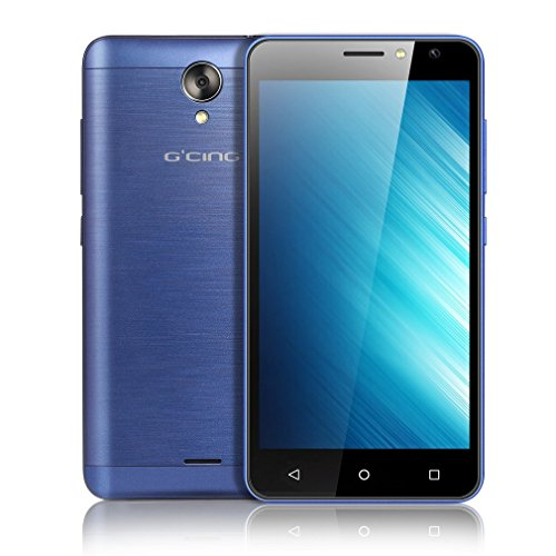 G one Android 7.0 Smartphone, 5 Zoll Smartphone (4G Smartphone ohne Vertrag, 5MP Rückkamera+2MP Frontkamera, 1GB RAM+8GB ROM, Dual SIM, mit GPS FM Benachrichtigungs-LED) Blau