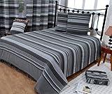 Homescapes waschbare Tagesdecke Sofaüberwurf XXL Morocco grau 225 x 255 cm Überwurfsdecke Bettüberwurf 100% reine Baumwolle