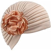 Minkoll Sombrero de Turbante Extensible Estilo Indio, Cabello Unisex Head Wrap Mujeres Dormir Cap Headwrap