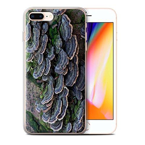 Stuff4 Gel TPU Hülle / Case für Apple iPhone 8 Plus / Wellenförmig Muster / Pflanzen/Blätter Kollektion Fungus
