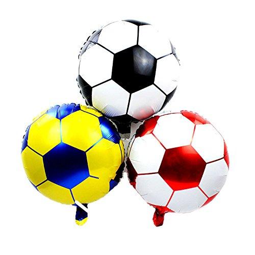 ED-Lumos Luftballon 3 Stücke Fußball-Ballons für Party/Kinderzimmer/Zuhause/Whonzimmer Geschenk für Freunde Kinder zur Dekoration und Verschönerung Umweltfreundlich und Langlebig 45cm×45cm