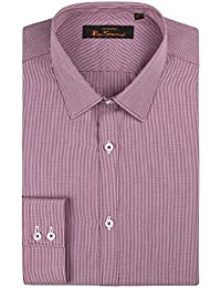 Ben Sherman Red Micro Shirt 0051312 by Suit Direct