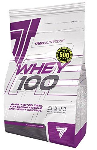 Trec Nutrition Whey 100 Protein Eiweiß Molkenprotein Supplement Eiweißshake Proteinshake Bodybuilding (500g Chocolate - Schokolade)