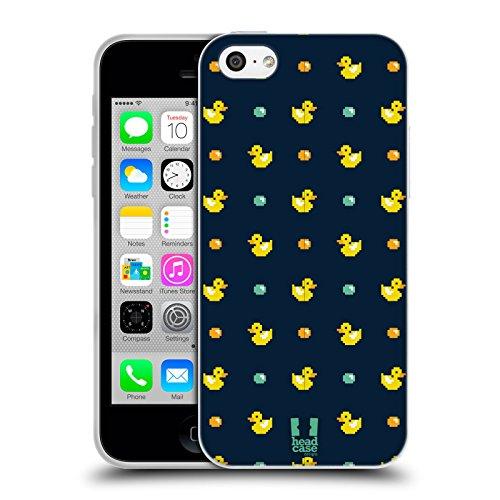 Head Case Designs Petit Canard En Caoutchouc Imprimées Pixellisées Étui Coque en Gel molle pour Apple iPhone 5 / 5s / SE Petit Canard En Caoutchouc