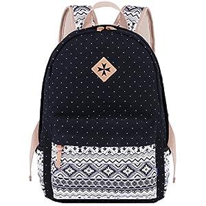 51zoeHl9 nL. SS300  - Coofit Casual Mochilas Femeninas Lona Mochilas Escolares Vintage Backpack