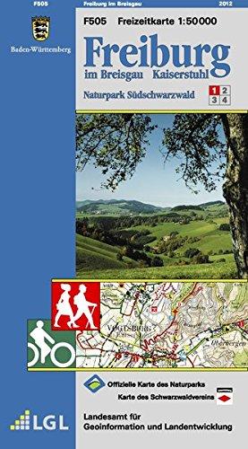 Freiburg im Breisgau: Naturpark Südschwarzwald 1 (Freizeitkarten 1:50000 / Mit Touristischen Informationen, Wander- und Radwanderungen)
