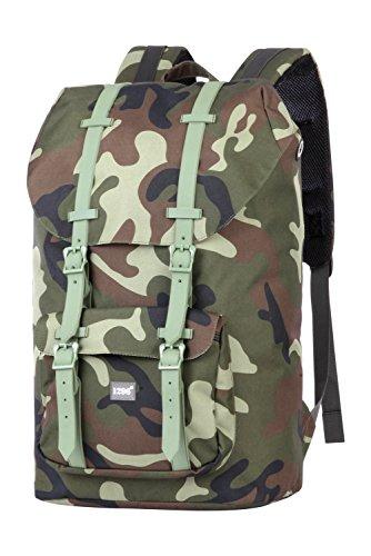 blnbag U2 - Rucksack mit Gepolstertem Laptopfach, Reiserucksack Handgepäck 20 Liter, Leichter Backpack Unisex 46 cm – Camouf...