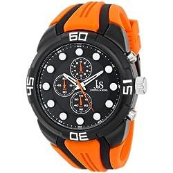 Joshua & Sons Reloj Pantalla analógica cuarzo japonés Naranja para Hombre