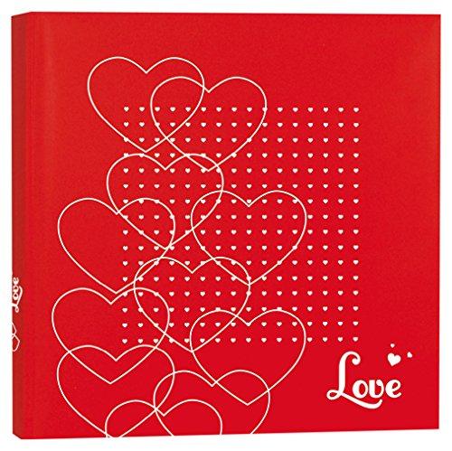 zep-vb242430-vale-album-photo-traditionnel-feuillets-papier-lamine-rouge-blanc-24-x-24-x-3-cm