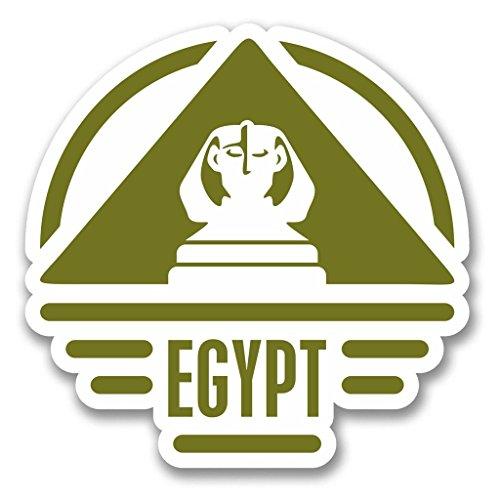 Preisvergleich Produktbild 2x Ägypten Vinyl Aufkleber Aufkleber Laptop Reise Gepäck Auto Ipad Schild Fun # 6412 - 10cm/100mm Wide