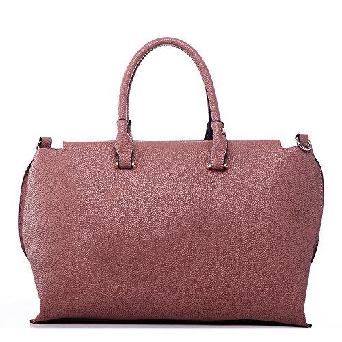 LeahWard® zu Ende Große Größe Damen Tote Handtasche Damen Mode Essener Berühmtheit Schultertaschen Qualität Kunstleder CWD223 CWJM443 Groß Rosa