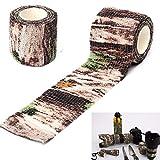 SOQNVLN cinta adhesiva de camuflaje para camping, caza, vendaje elástico, fuerza adhesiva instantánea