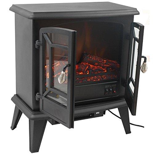 Classic Fire Narvik' -Chimenea eléctrica con Fuego Eléctrico-1800 W, Negro, 28x51x58.5 cm