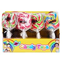 Hoots Square Lollypop Pack of 6