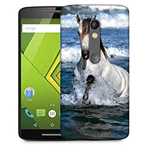 Snoogg White Horse In River Designer Protective Phone Back Case Cover For Lenovo Motorola Moto G4