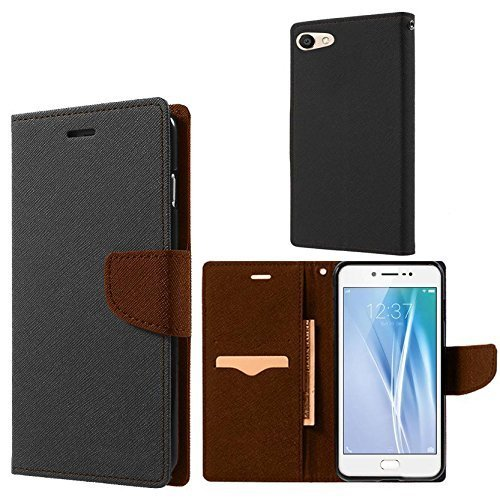 E.R.I.T. Ultra Compact Flip Cover with Credit Card and Wallet Slots for Vivo Y55L (Brown)