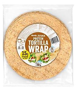 Body Attack Protein Tortilla - Low in Sugar - Wraps (1 x 4 Stück)