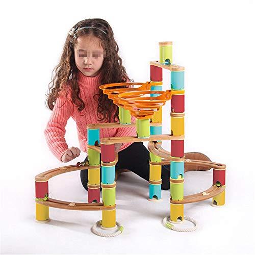 NeoMcc Kinder 3-12 Jahre alt Kampf Bausteine   Track Ball Track Holz Kinderspielzeug Lernspielzeug für Kleinkinder & Kinder (Color : Multi-Colored, Size : One Size)