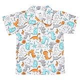 TupTam Baby Jungen Polo-Shirt mit Print Baumwolle, Farbe: Dino Grau, Größe: 68