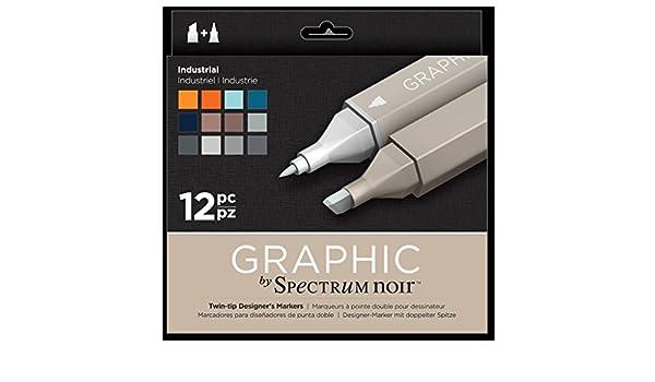 Spectrum Noir Vintage  Art Craft Alcohol Marker Pen Classique Set 12PK