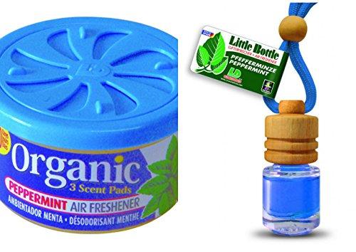 Duft Duo Pfefferminze. 1 x Organic Scent Duftdose + 1 Little Bottle Duftflakon Lufterfrischer -