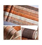 Multi-wallpaper Amerikanisch Retro nostalgisch farbig gesprenkelt Planke Maserung Tapete Persönlichkeit Bar Restaurant Bekleidungsgeschäft vertikale Streifen rot