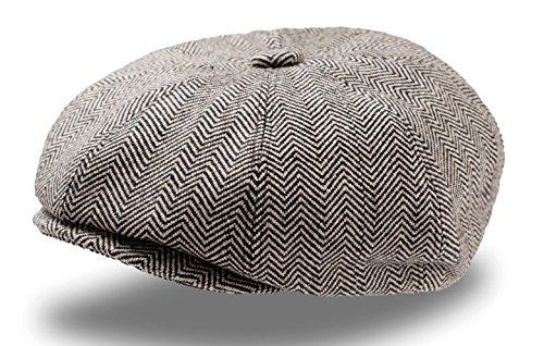 Preisvergleich Produktbild Dandy Coppola Gatsby Filz-Wolle Mütze Coppola Chapeaux Hute Keyone (schwarz)