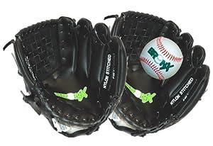 Bronx Baseballhandschuh und Baseball für Catcher, Junior, Schwarz / Weiß, 25cm