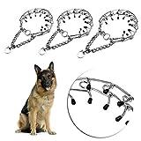 Hihey Kombikette Hunde langgliedrig Hunde Kette Glieder Halsband Ketten Ketten Halsband Hundehalsband Hundehalskette Einstellbare Metall Big Dog Stimulation Kettenhalsband