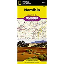 National Geographic Namibia Map