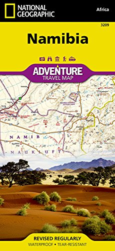 Touristische Karte Namibia 1:1 200 000: waterproof, tear-resistant Travel Map (National Geographic Adventure Map)